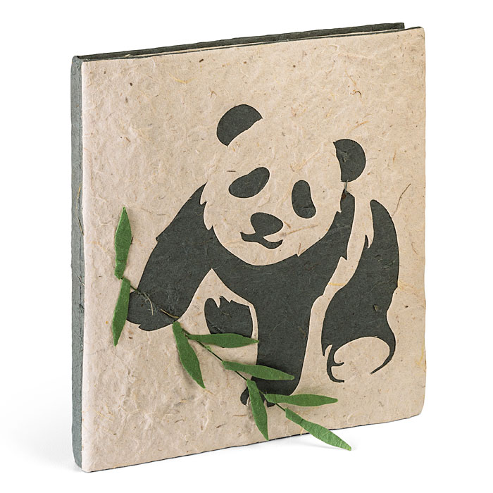 This journal is recycled from Panda poo!