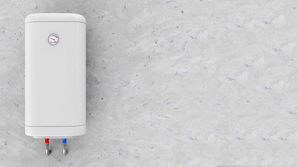 a picture of a tankless water heater on a wall